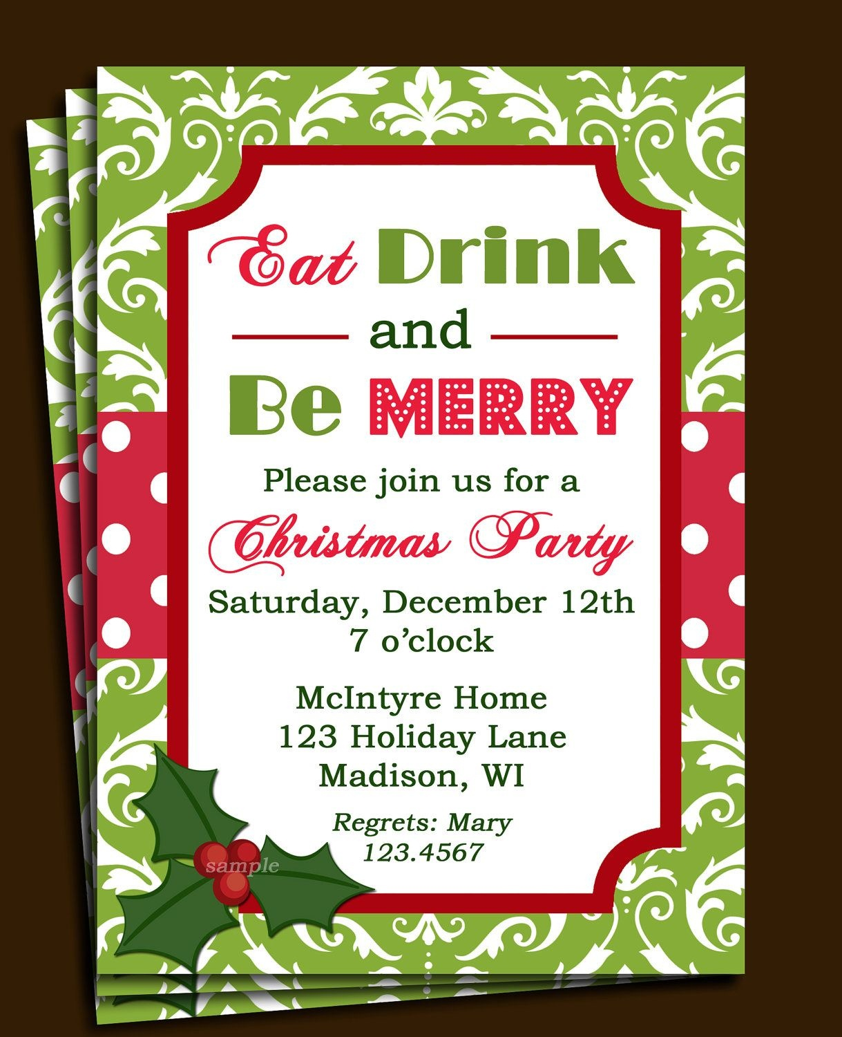 Free Printable Office Christmas Party Invitations | Party Stuff - Free Printable Christmas Party Flyer Templates