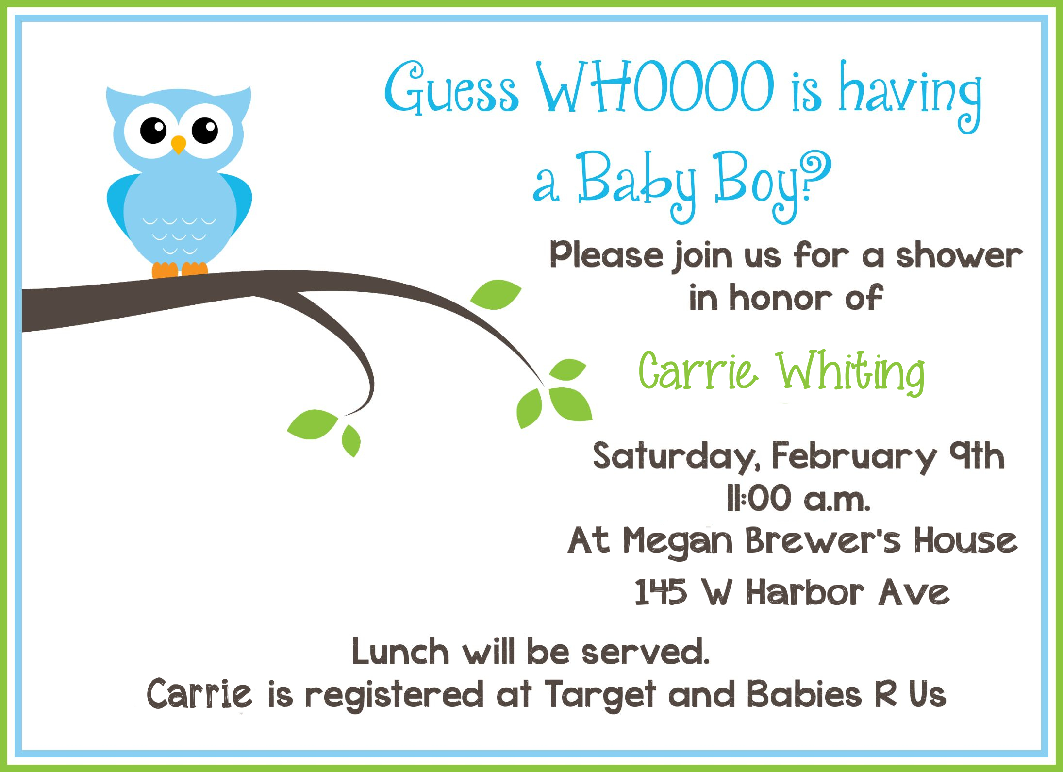 Free Printable Owl Baby Shower Invitations | Owl Let You In If You - Baby Shower Cards Online Free Printable