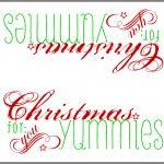 Free Printable: Paper Bag Topper   Great Oak Circle   Free Printable Christmas Bag Toppers