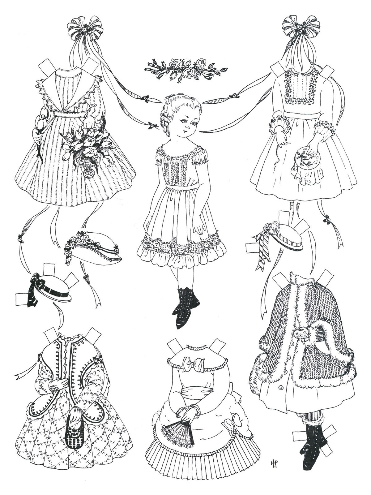 Free Printable Paper Doll Coloring Pages For Kids - Printable Paper Dolls To Color Free