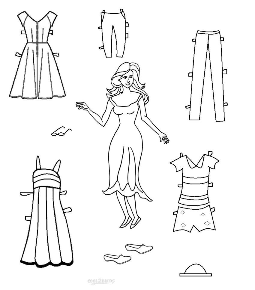 Free Printable Paper Doll Templates   Cool2Bkids - Printable Paper Dolls To Color Free