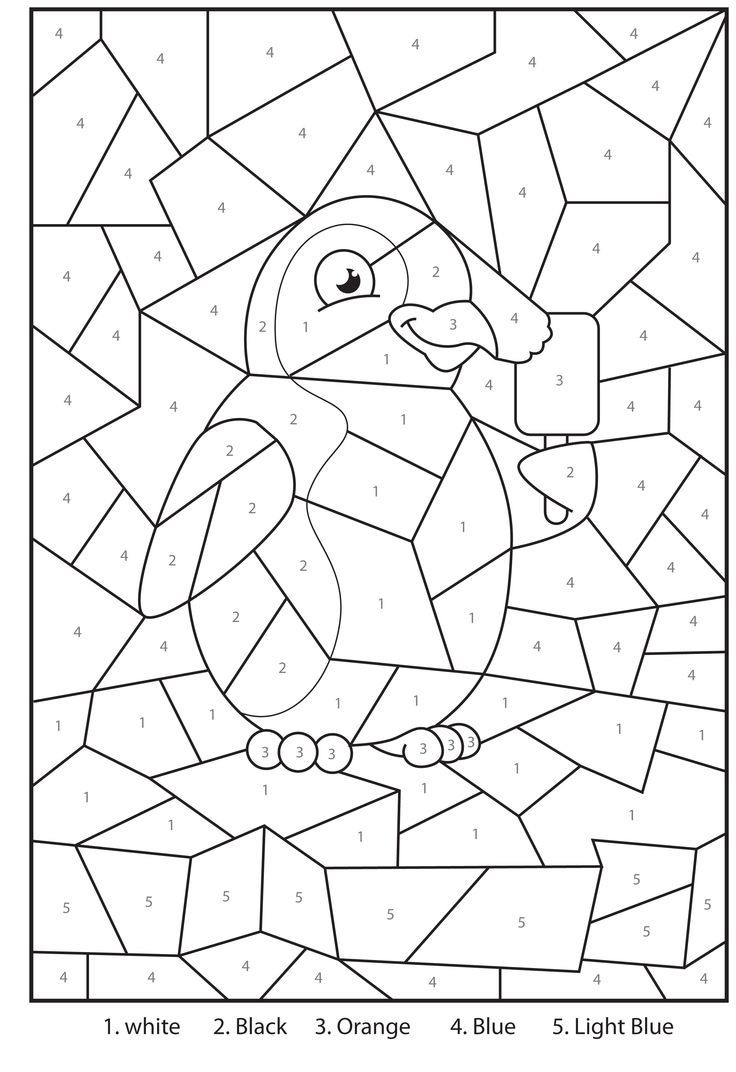 Free Printable Penguin At The Zoo Colournumbers Activity For - Free Printable Activity Sheets For Kids