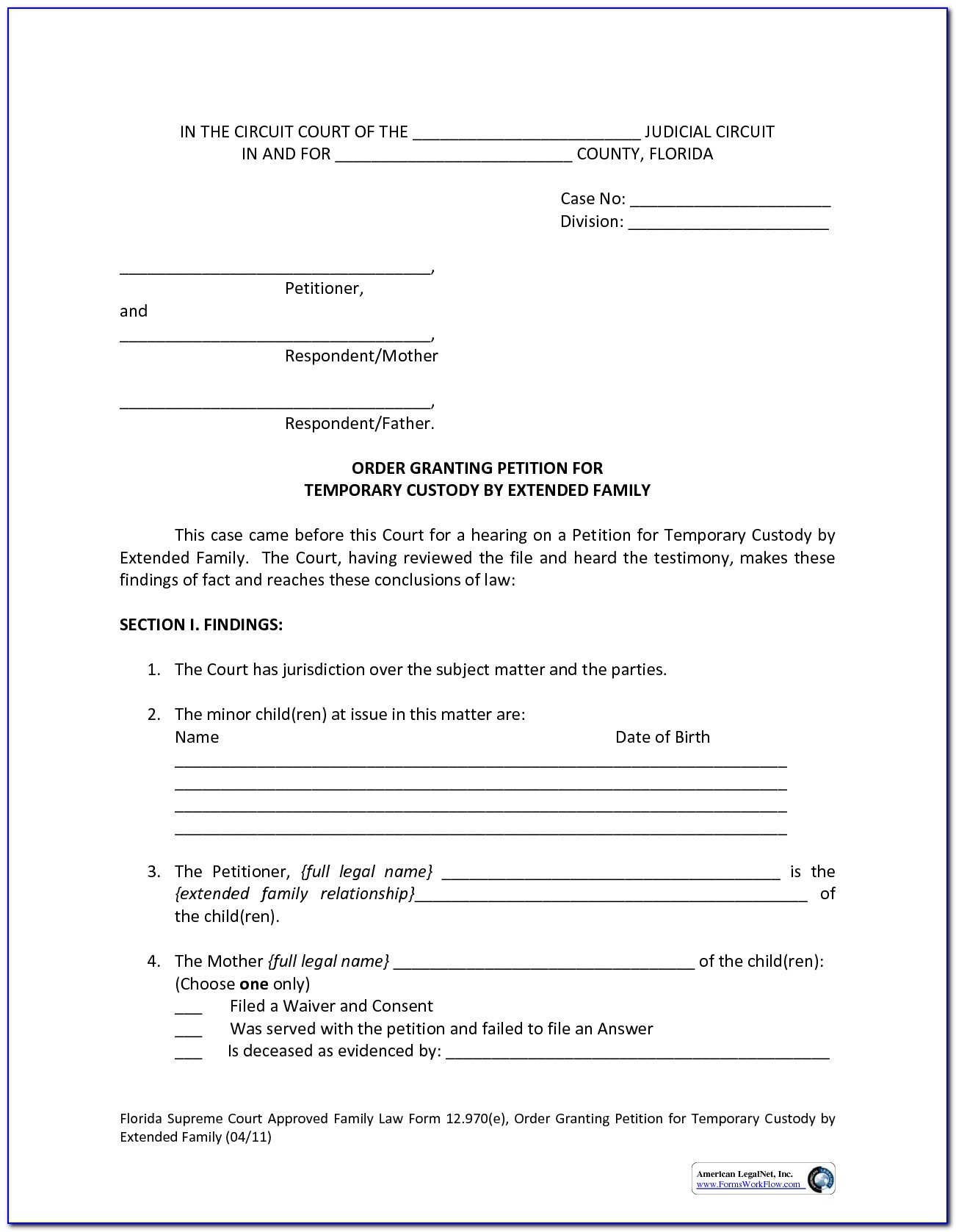 Free Printable Permanent Guardianship Forms - Form : Resume Examples - Free Printable Legal Guardianship Forms