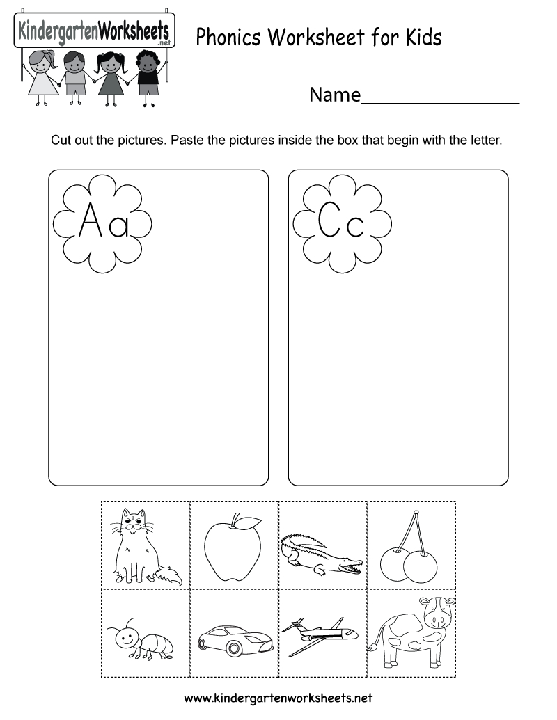 Free Printable Phonics Worksheet For Kids For Kindergarten - Phonics Pictures Printable Free