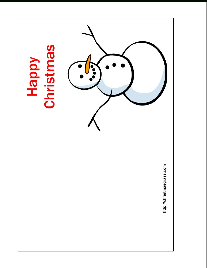 Free Printable Photo Christmas Card Templates - Tutlin.psstech.co - Free Printable Card Templates