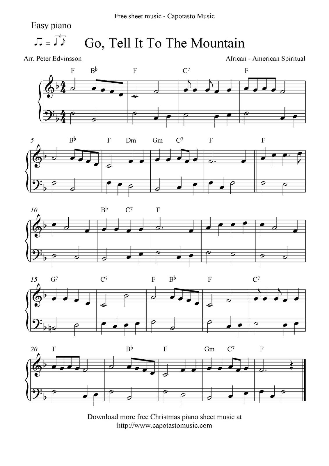Free Printable Piano Sheet Music | Free Sheet Music Scores: Easy - Free Printable Frosty The Snowman Sheet Music