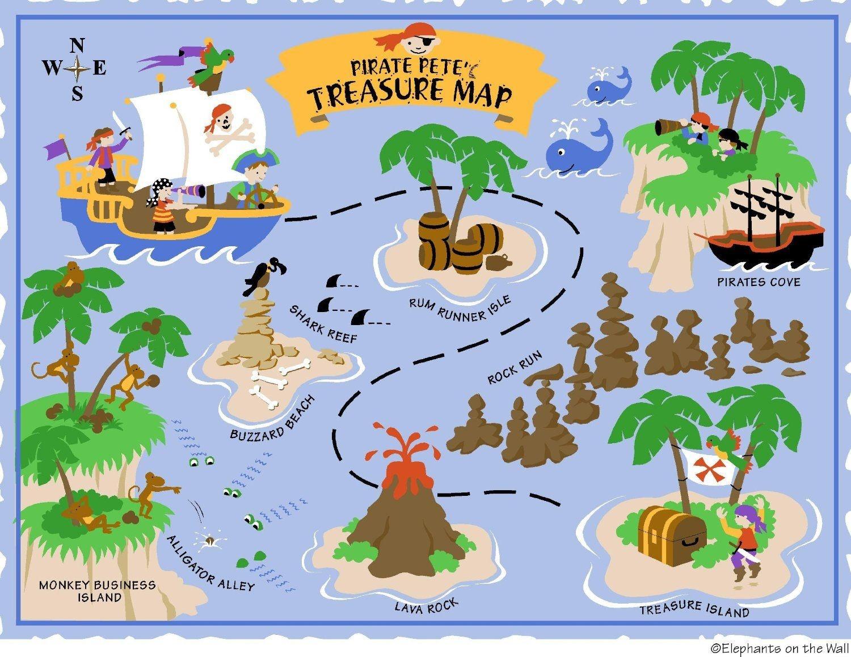 Free Printable Pirate Treasure Map - Google Search   Boy Pirates - Free Printable Pirate Maps