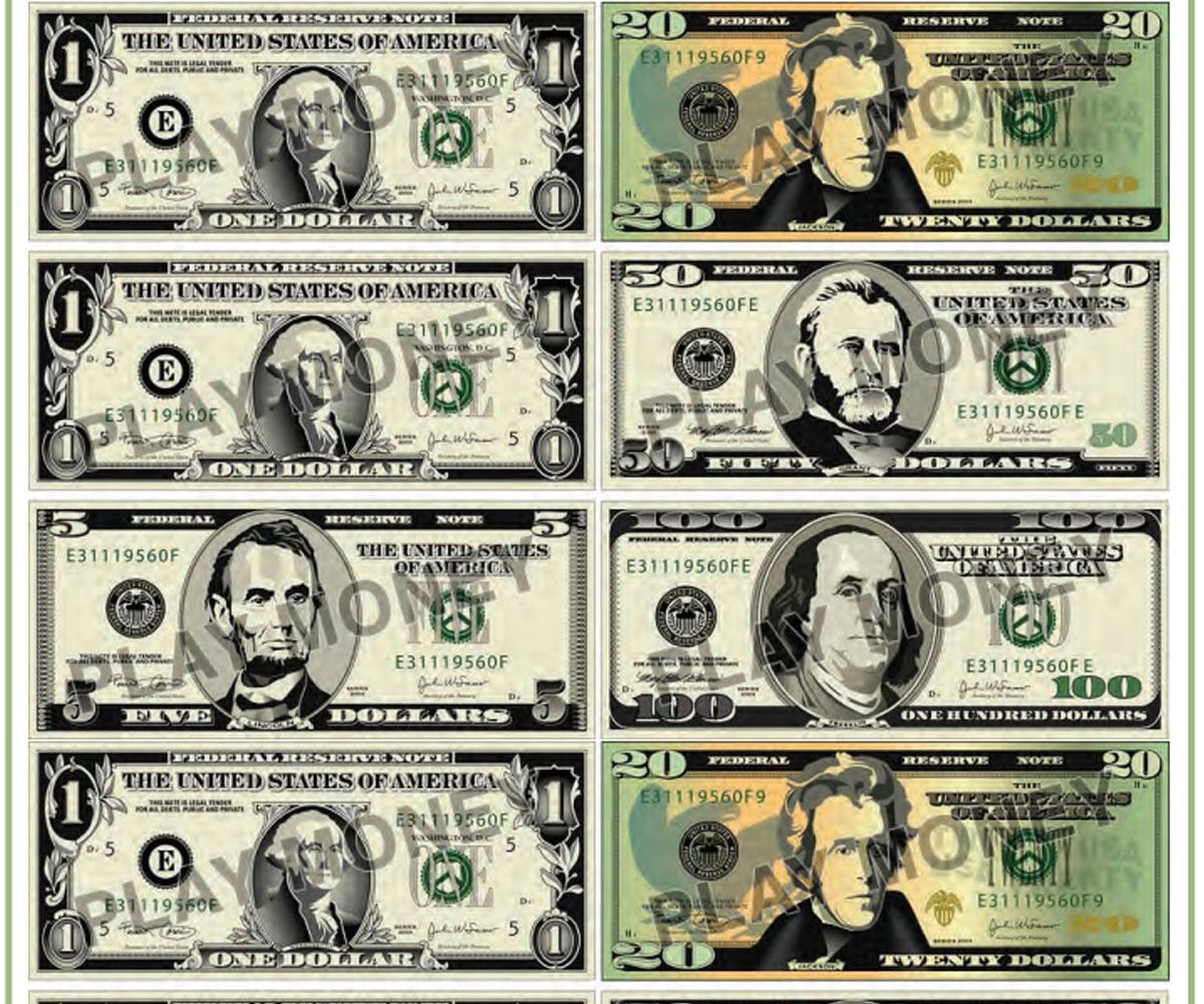 Free Printable Play Money - Familyeducation - Free Printable Game Money