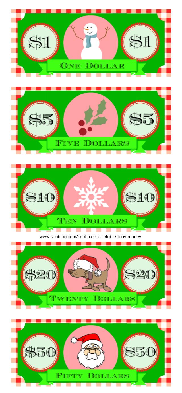 Free Printable Play Money Kids Will Love | Elf On A Shelf - Christmas Money Wallets Free Printable