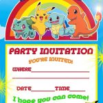 Free Printable Pokemon Birthday Party Invitations | Party Ideas   Free Printable Pokemon Birthday Invitations