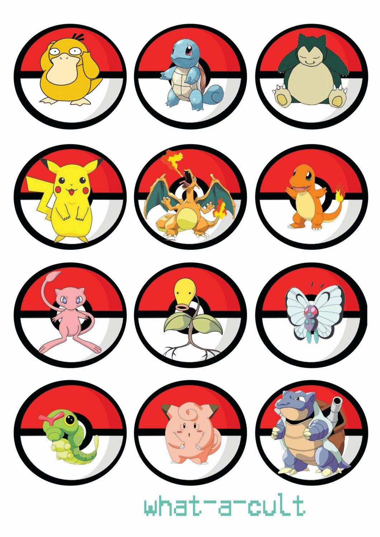 Free Printable Pokemon Cupcake Toppers | Cupcake - Pokemon Birthday - Free Printable Pokemon Pictures