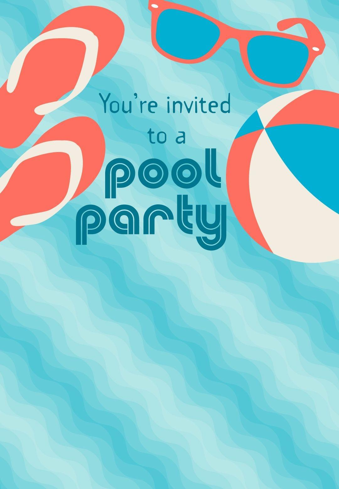 Free Printable Pool Party Stuff Invitation   Projects To Try In 2019 - Free Printable Pool Party Birthday Invitations