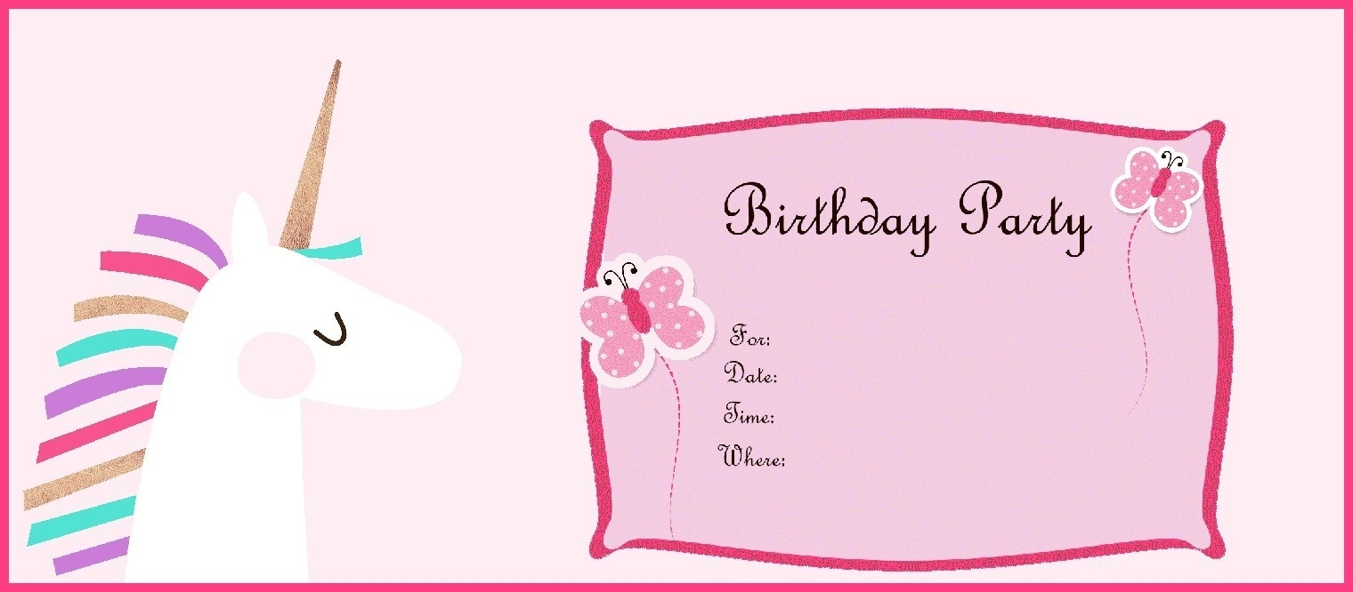 Free Printable Popular Birthday Party Invitations Online Free Inside - Free Printable Unicorn Birthday Invitations