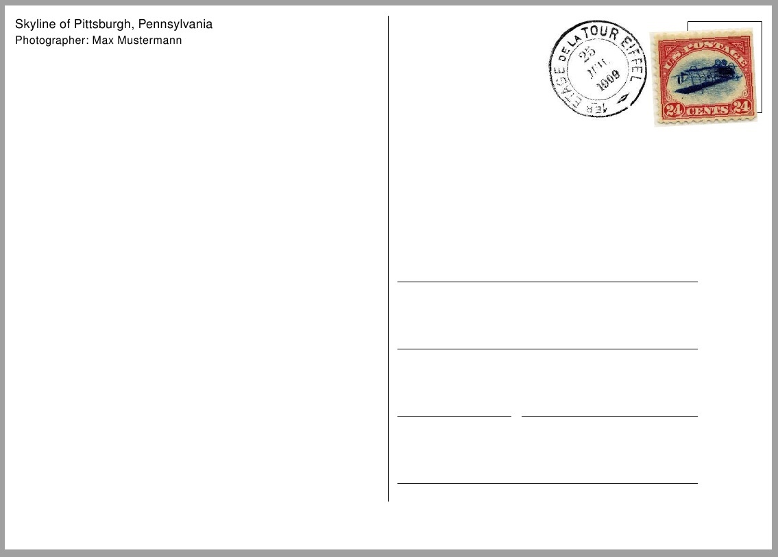 Free Printable Postcard Template Sample | Get Sniffer - Free Printable Postcard Template