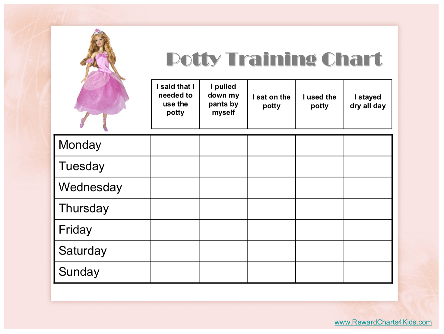 Free Printable Potty Training Charts - Potty Training - Free Printable Potty Training Charts