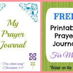 Free Printable Prayer Journal For Moms | Water On The Floor   Free Printable Prayer Journal