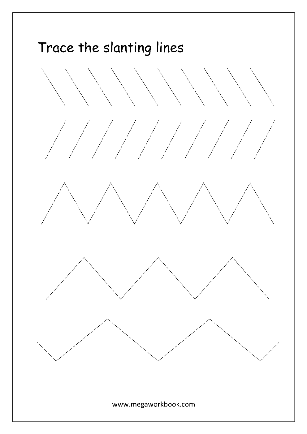 Free Printable Pre-Writing Tracing Worksheets For Preschoolers - Free Printable Preschool Worksheets Tracing Lines