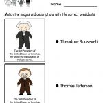 Free Printable Presidents' Day Learning Worksheet For Kindergarten   Free Printable Presidents Day Worksheets