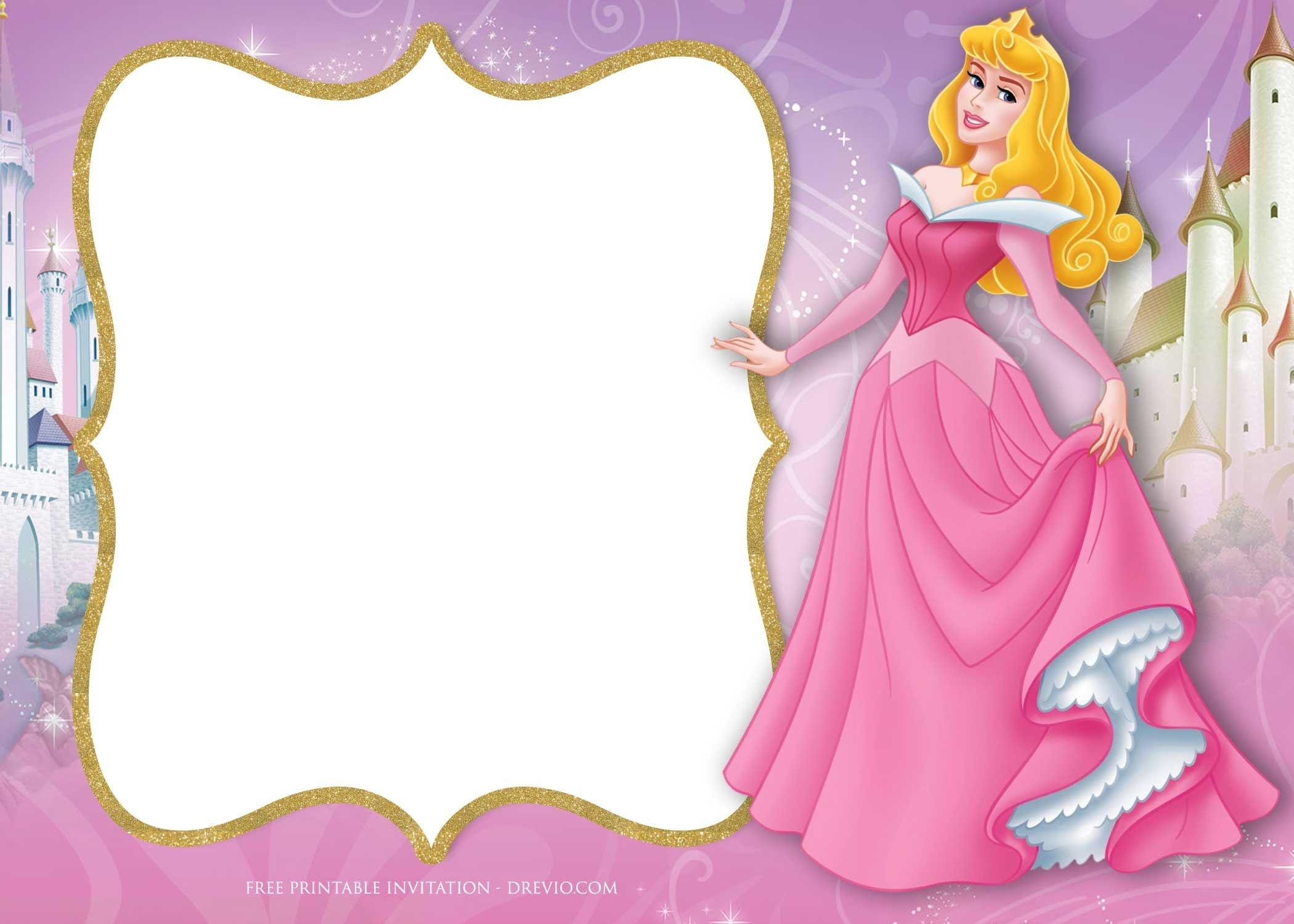 Free Printable Princess Aurora Sleeping Beauty Invitation | Free - Free Printable Princess Invitations