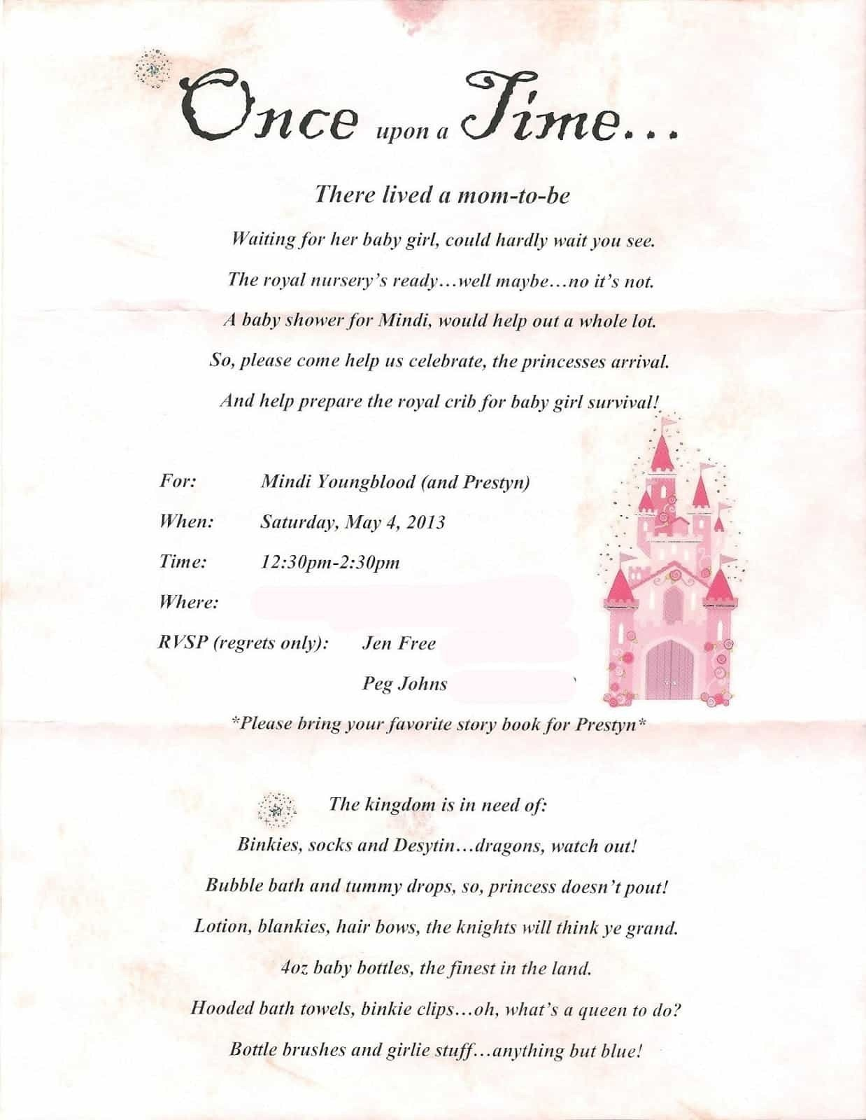 Free Printable Princess Baby Shower Invitations Famous Bottle - Free Printable Princess Baby Shower Invitations