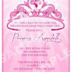 Free Printable Princess Birthday Invitation Templates | Kids   Free Princess Printable Invitations