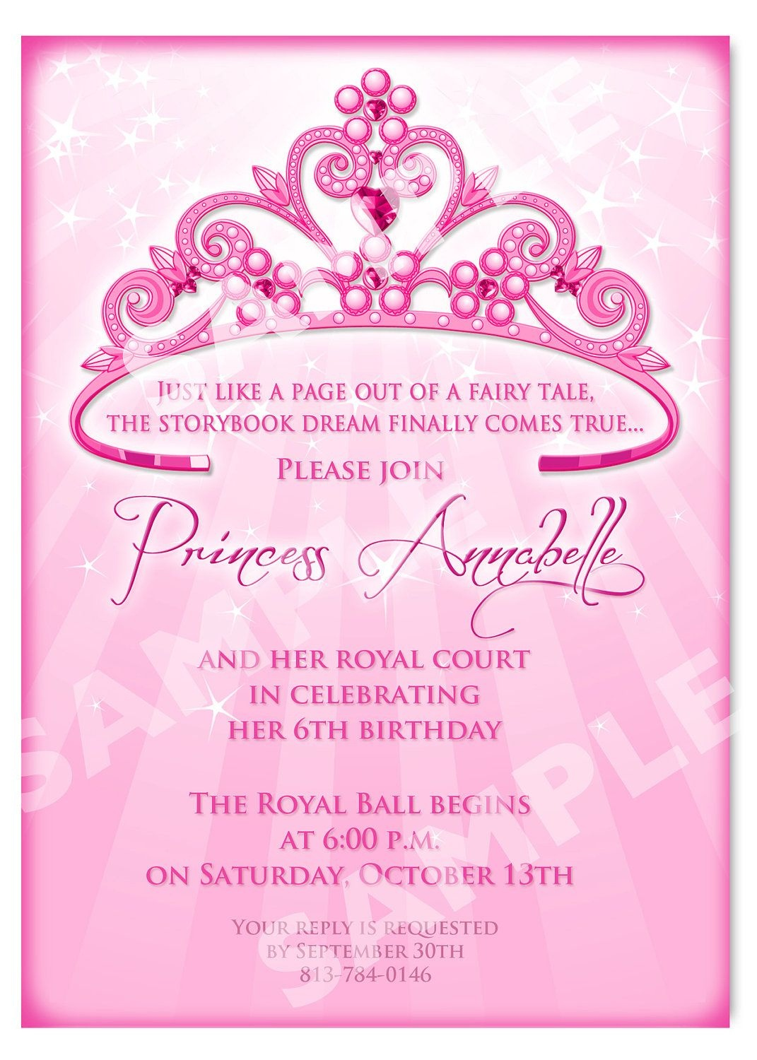 Free Printable Princess Birthday Invitation Templates | Kids - Free Printable Personalized Birthday Invitation Cards