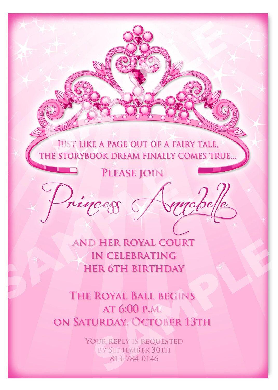 Free Printable Princess Birthday Invitation Templates | Kids - Free Printable Princess Invitations