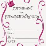 Free Printable Princess Birthday Party Invitations | Kendall James   Free Princess Printable Invitations