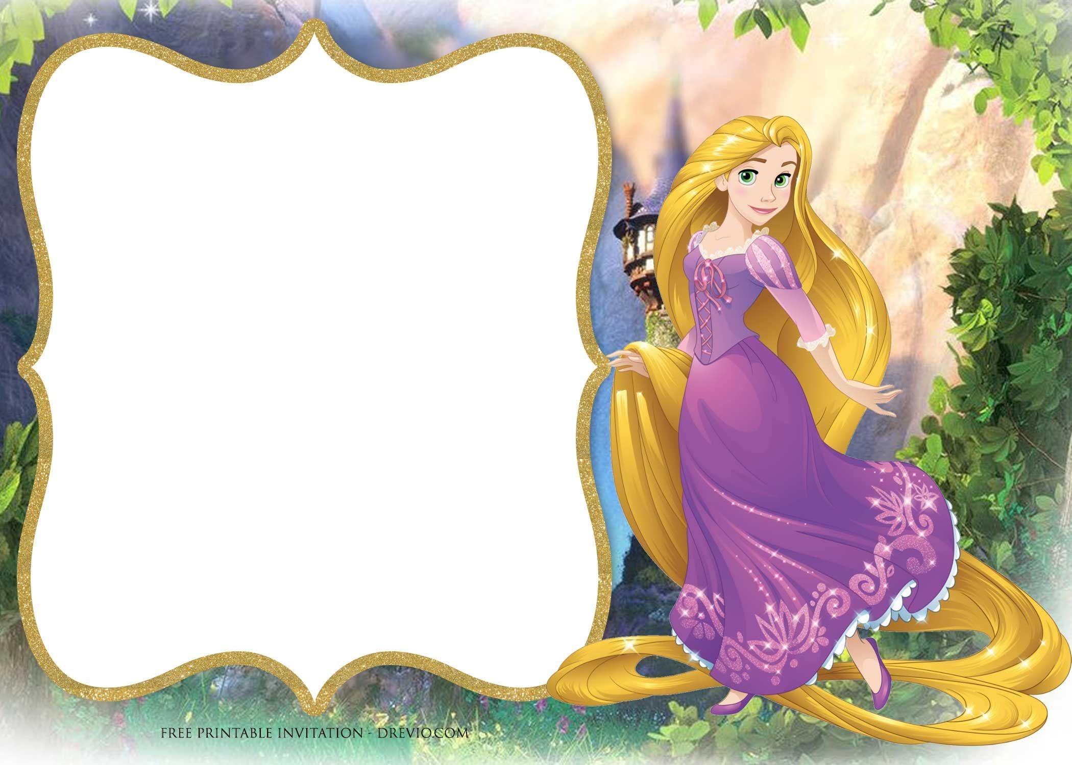 Free Printable Princess Rapunzel Invitation Templates   Free - Free Printable Tangled