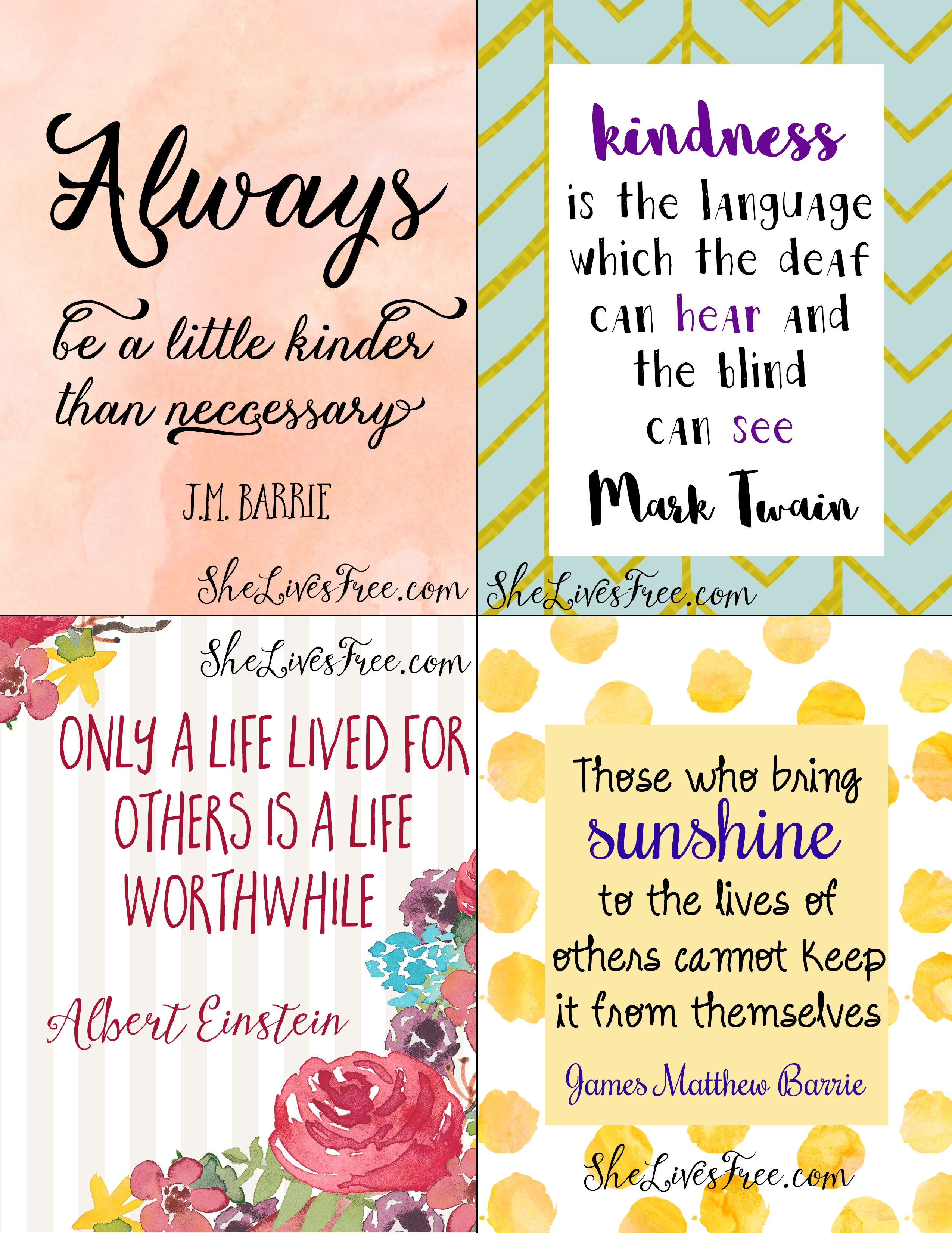 Free Printable Quotes To Inspire Kindness: Lunch Notes For Kids - Free Printable Quotes And Sayings