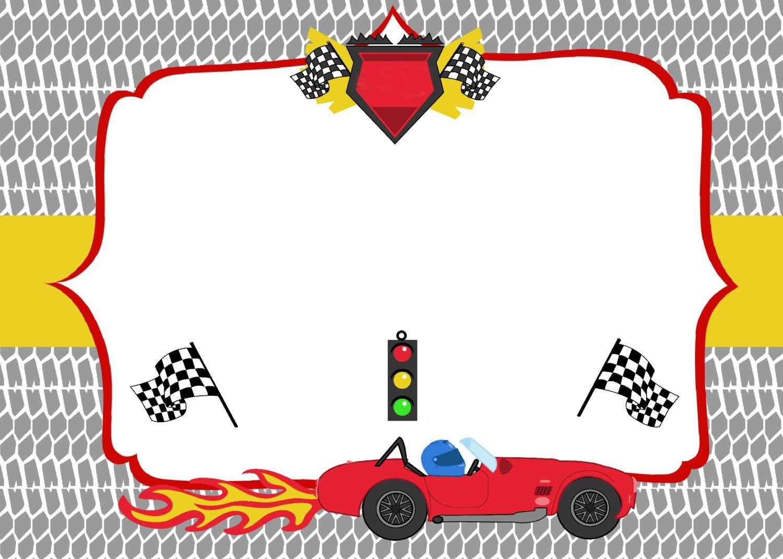 Free Printable Race Car Birthday Party Invitations - Updated!   Free - Free Printable Birthday Invitations Cars Theme