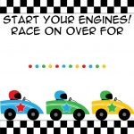 Free Printable Race Car Birthday Party Invitations   Updated   Free Printable Car Template