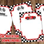 Free Printable Race Car Invitation Templates For John | Invitation   Free Printable Car Template