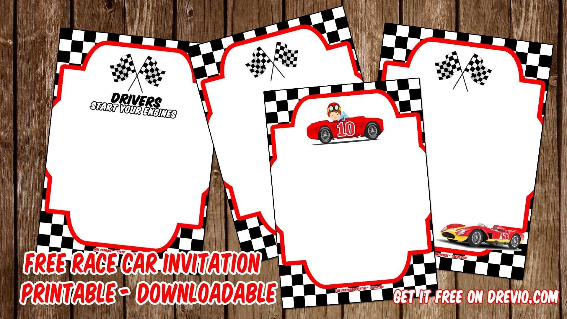 Free Printable Race Car Invitation Templates For John   Invitation - Free Printable Car Template