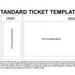 Free Printable Raffle Tickets Template | Template | Ticket Template   Free Printable Raffle Ticket Template