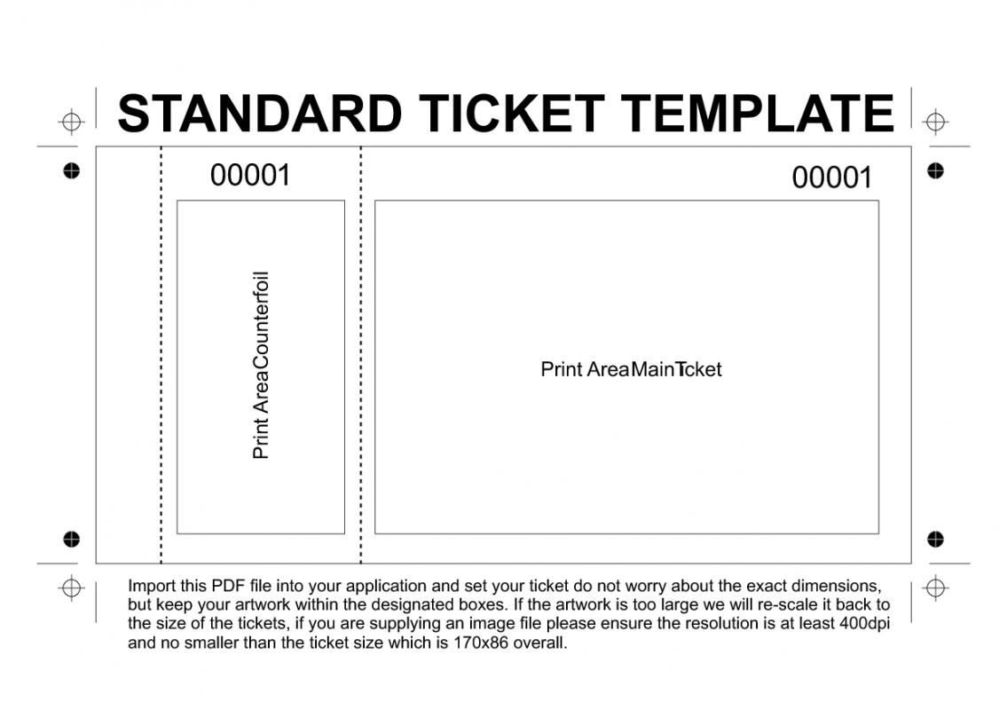 Free Printable Raffle Tickets Template   Template   Ticket Template - Free Printable Raffle Ticket Template