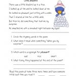 Free Printable Reading Comprehension Worksheets For Kindergarten   Free Printable Reading Worksheets