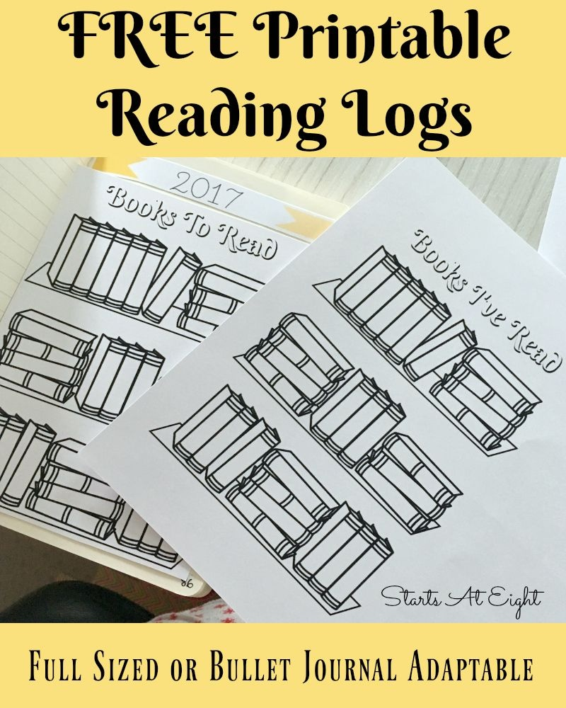 Free Printable Reading Logs ~ Full Sized Or Adjustable For Your - Free Printable Reading Books For Preschool