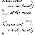 Free Printable Reserved Seating Signs For Your Wedding Ceremony   Free Printable Wedding Signs