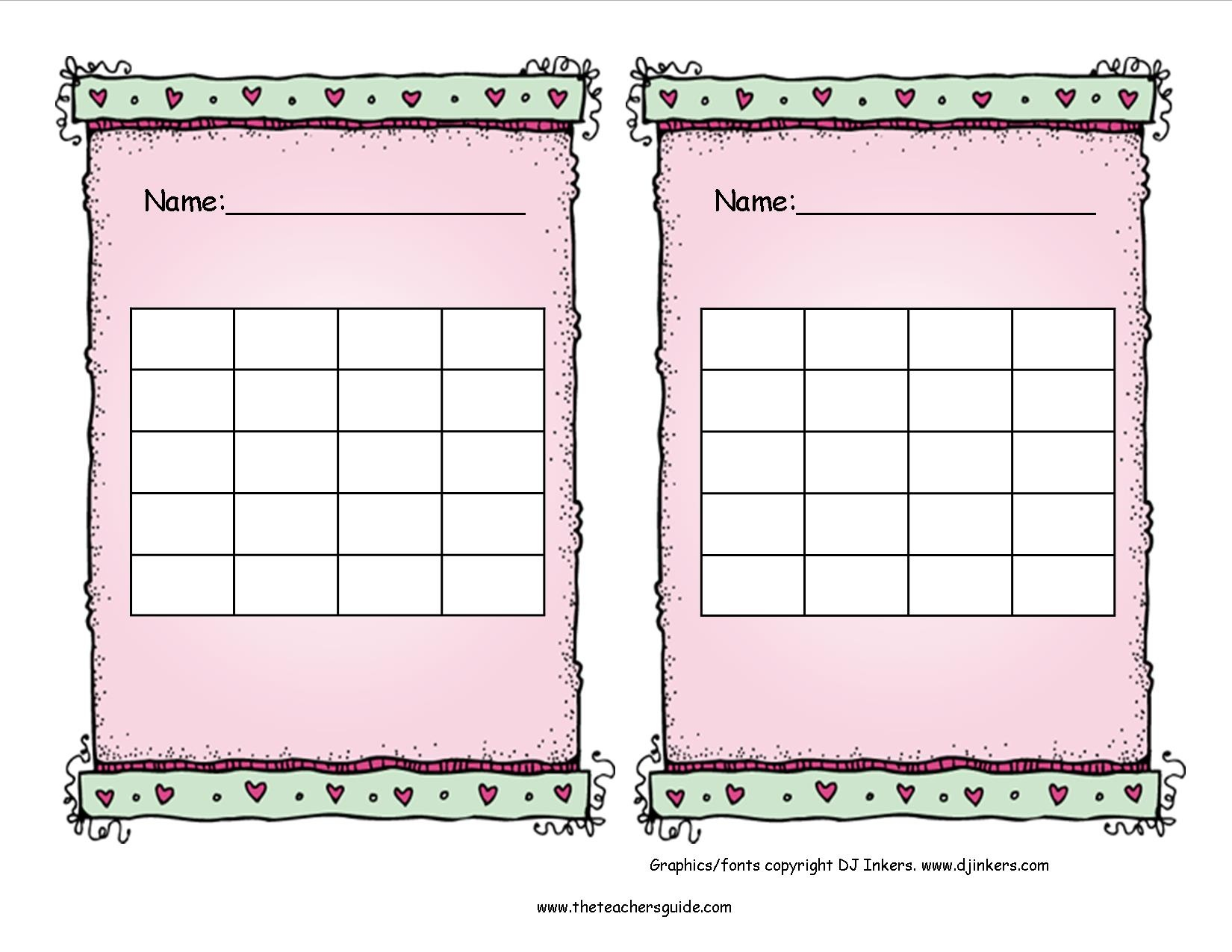Free Printable Reward And Incentive Charts - Free Printable Charts For Teachers