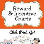 Free Printable Reward & Incentive Charts For Teachers & Students   Free Printable Incentive Charts For Students