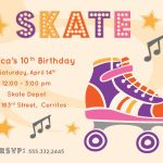 Free Printable Roller Skating Party Invitations | Laylas Birthday   Free Printable Skating Invitations