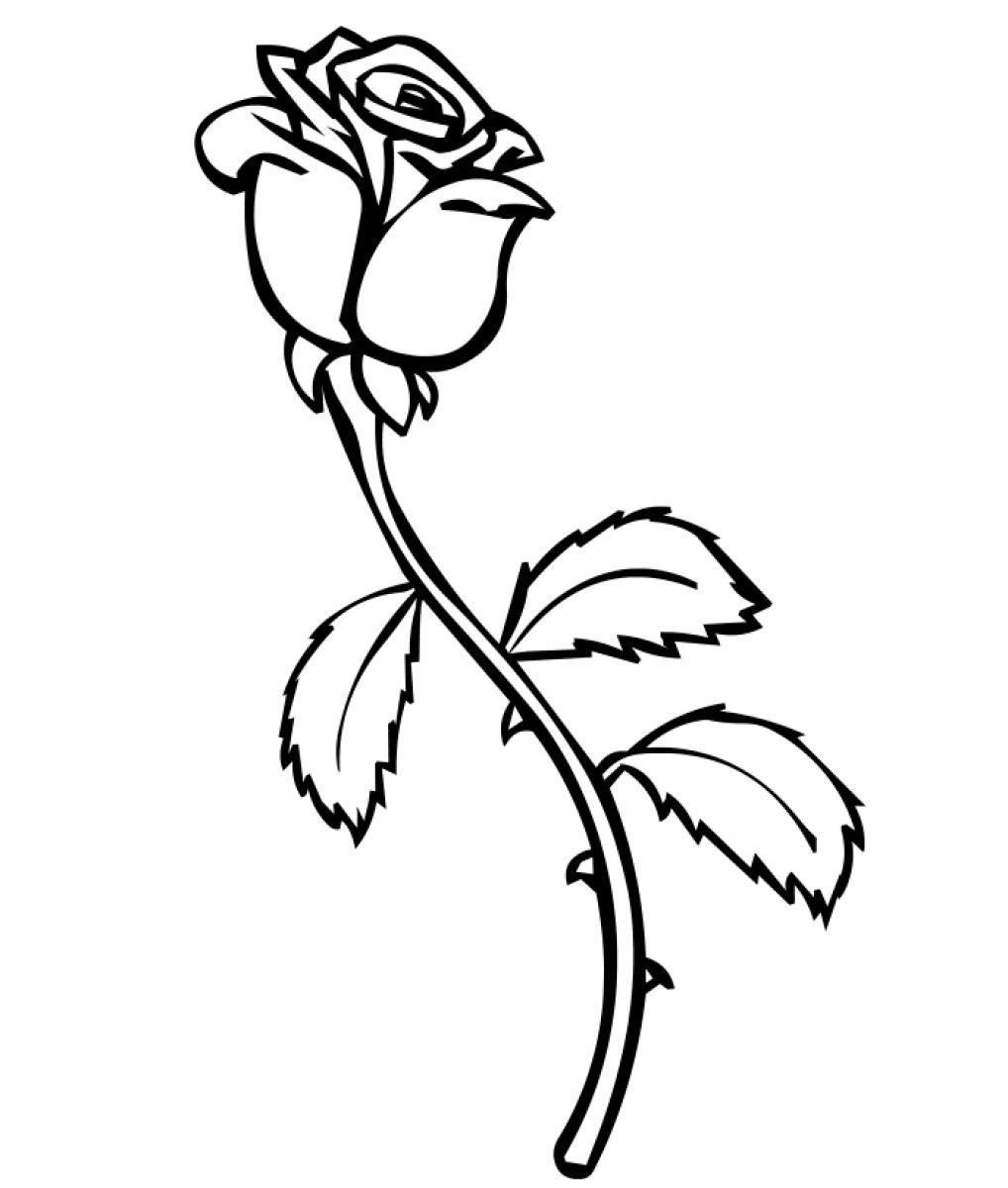 Free Printable Roses Coloring Pages For Kids - Free Printable Roses