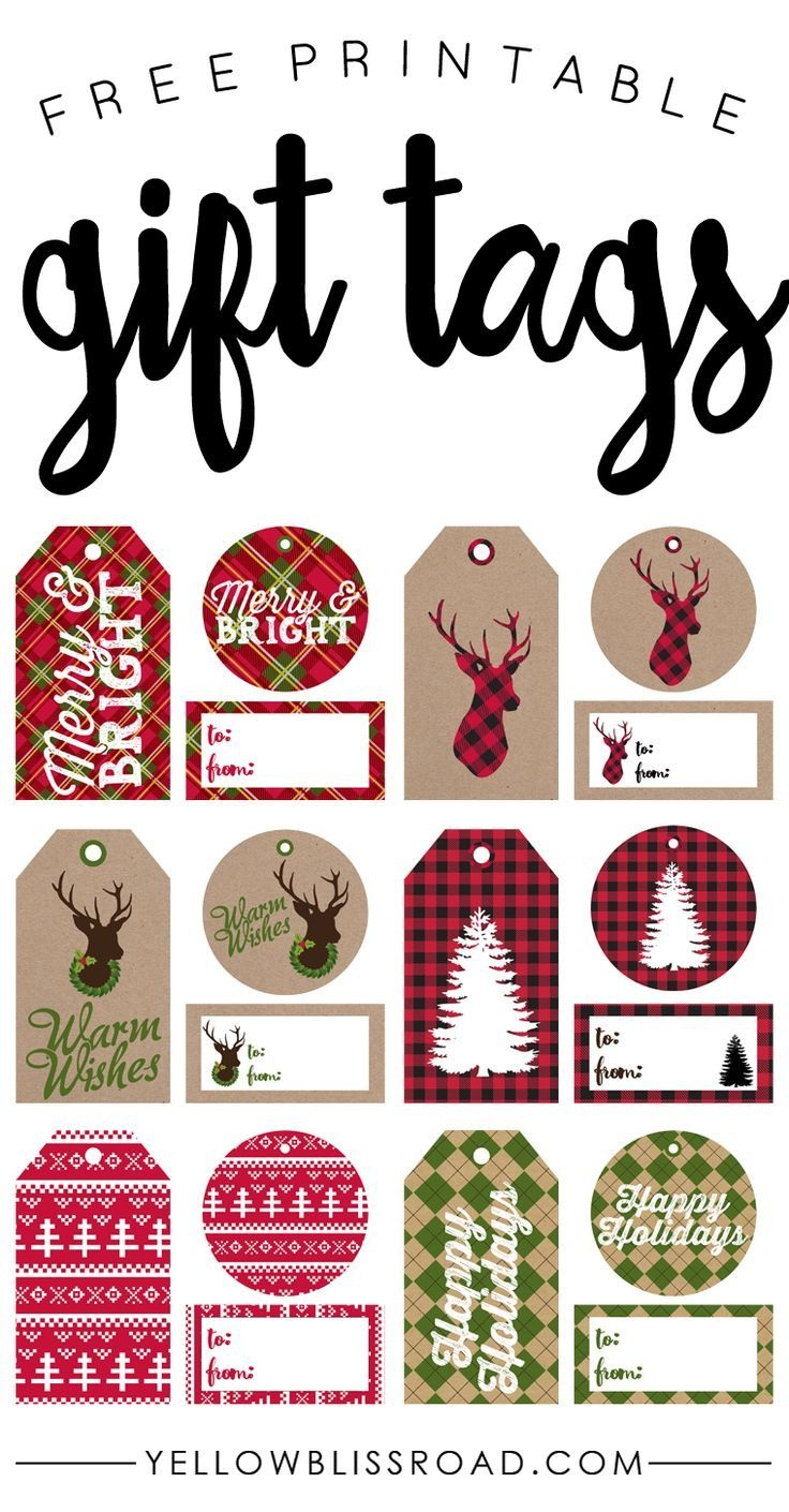 Free Printable Rustic And Plaid Gift Tags | Best Of Pinterest - Free Printable Happy Holidays Gift Tags