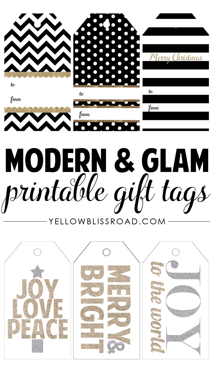 Free Printable Rustic And Plaid Gift Tags - Yellow Bliss Road - Free Printable Gift Tags