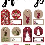 Free Printable Rustic And Plaid Gift Tags   Yellow Bliss Road   Printable Gift Tags Customized Free