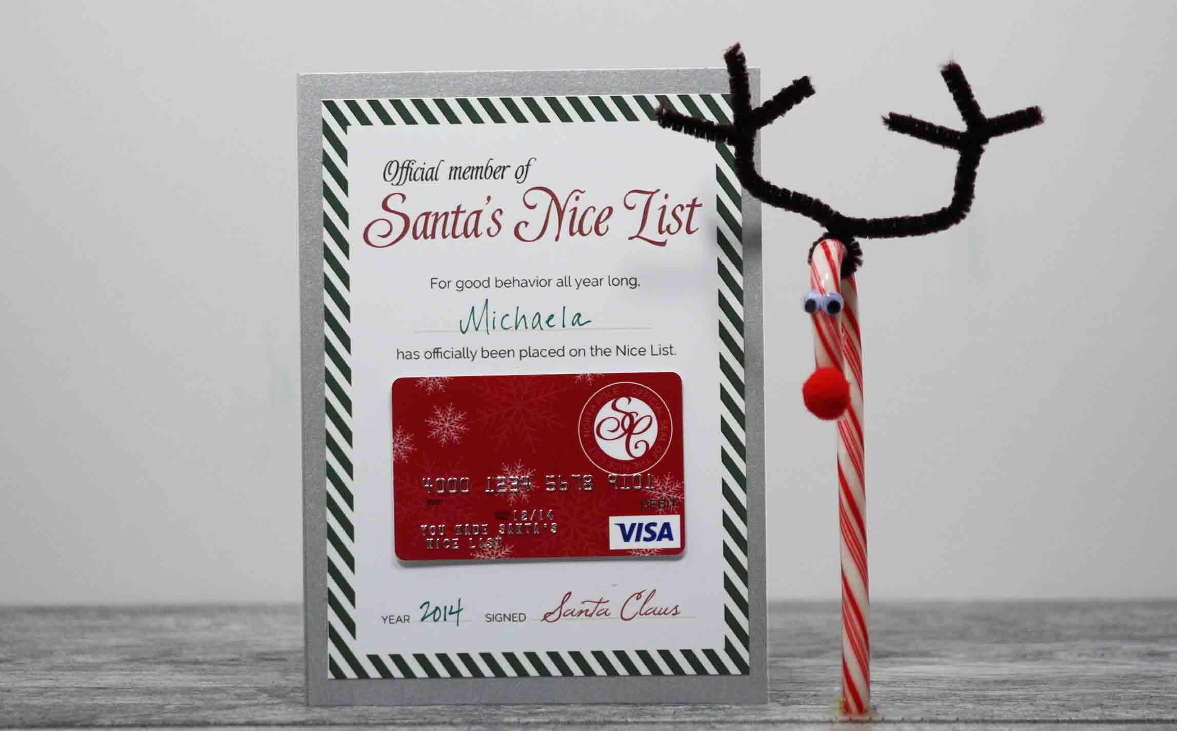 Free Printable} Santa's Nice List Certificate   Gcg - Make A Holiday Card For Free Printable