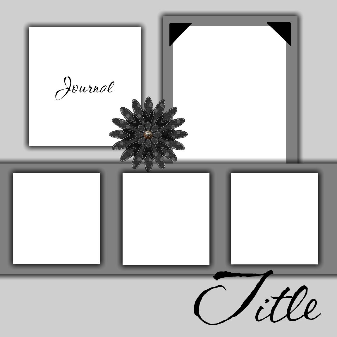 Free Printable Scrapbook Layout Templates | Free Scrapbook Templates - Free Printable Scrapbook Pages