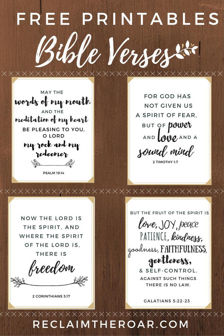 Free Printable Scriptures | Words | Printable Bible Verses, Bible - Free Printable Scripture Verses