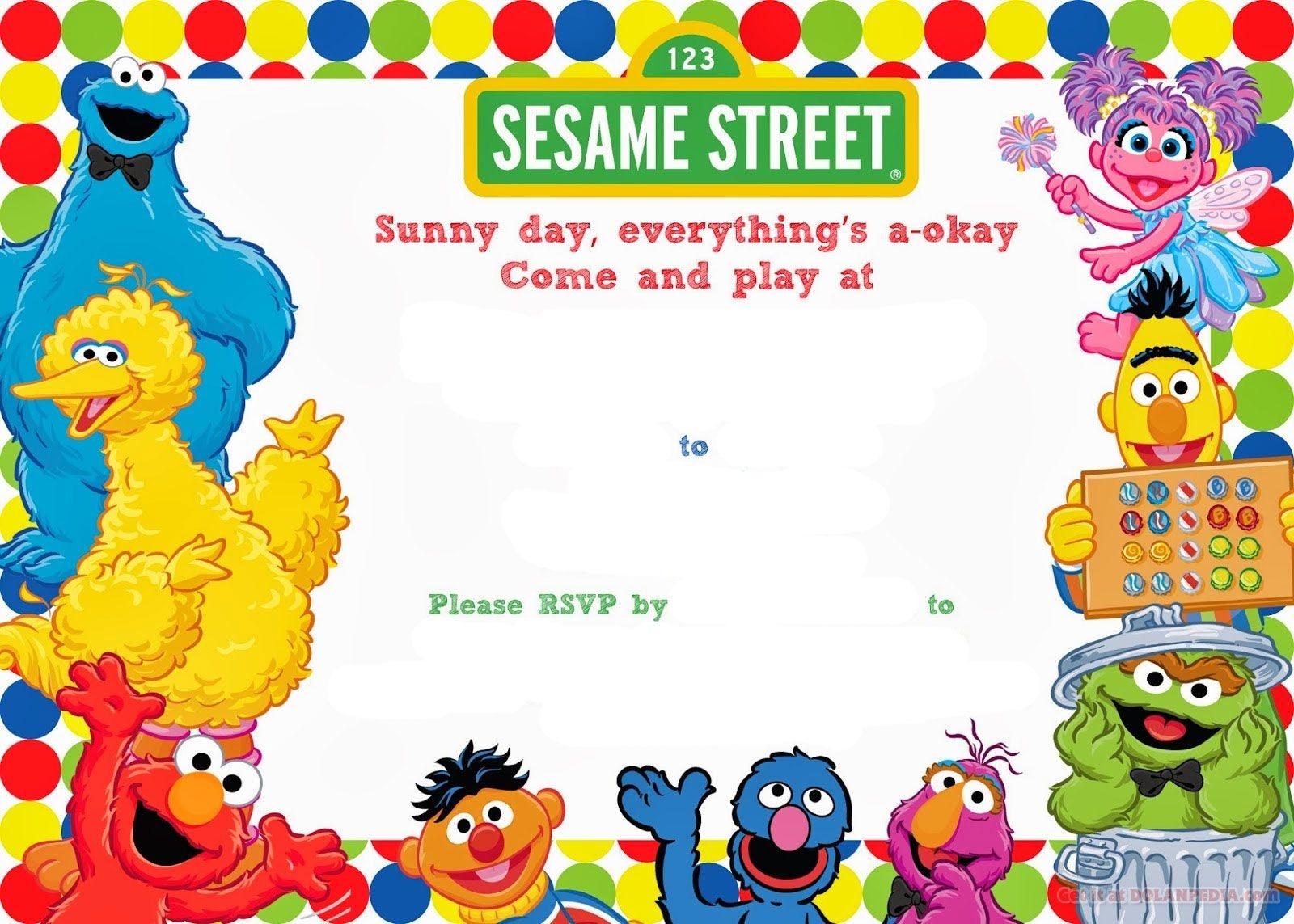 Free Printable Sesame Street Birthday | Free Printable Birthday - Free Printable Sesame Street Cupcake Toppers